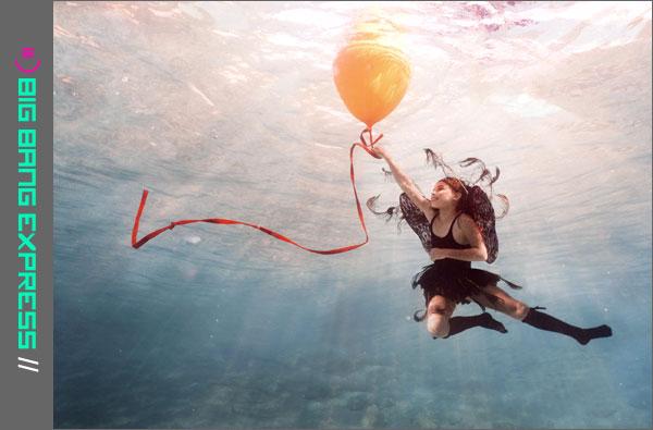 Onderwaterfotografie Noushta Koeckhoven: Zeeelfje Nicole