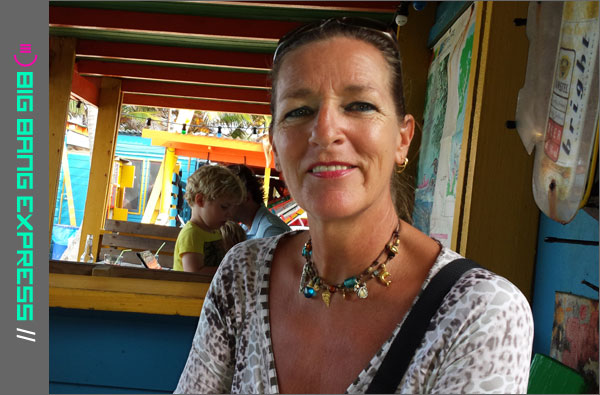 Christel Cosijn op Bonaire bij Jibe City