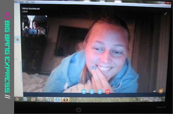 Skypen met Nikita