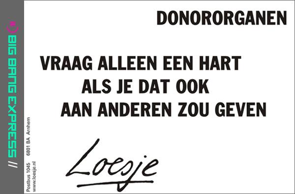 Donororganen - Loesje
